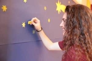 Weihnachts-Mariathon: Sterne stempeln