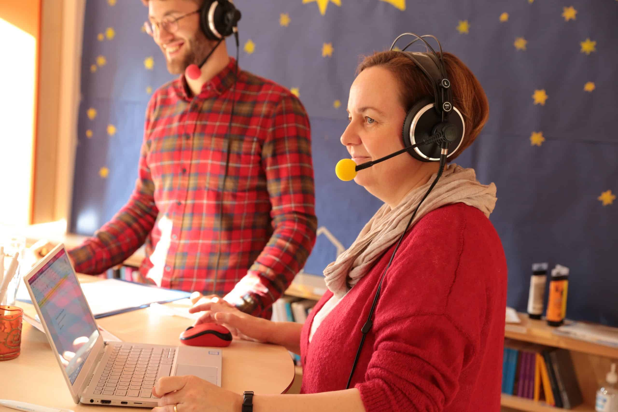Gudrun Trausmuth und Martin Straßl auf Sendung